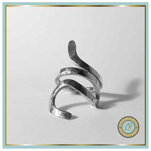 Hammered Snake Ring