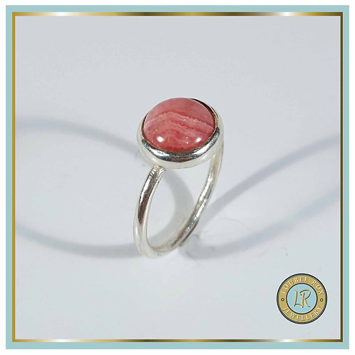 RHODOCROSITE 10mm Cabochon Stacking Ring