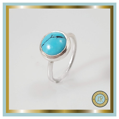 TURQUOISE 10mm Cabochon Stacking Ring