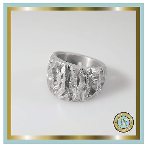 Carved Barked Ring