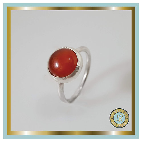 CARNELIAN 10mm Cabochon Stacking Ring