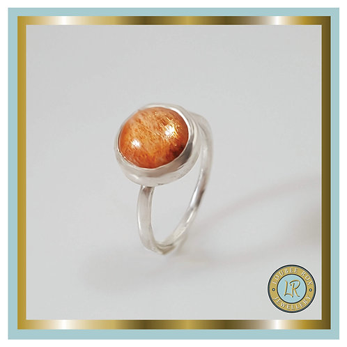 SUNSTONE 10mm Cabochon Stacking Ring