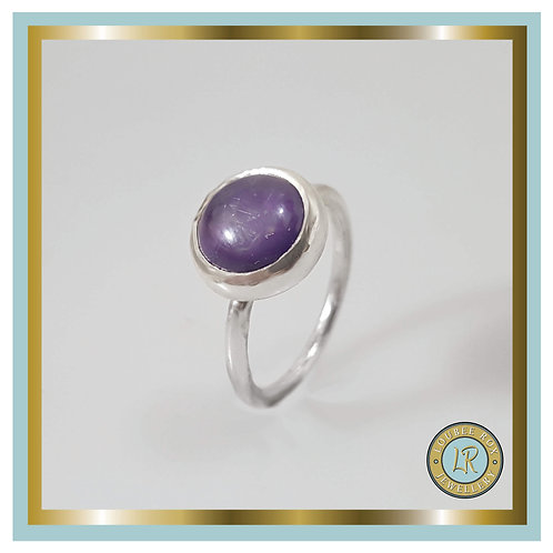 AMETHYST 10mm Cabochon Stacking Ring