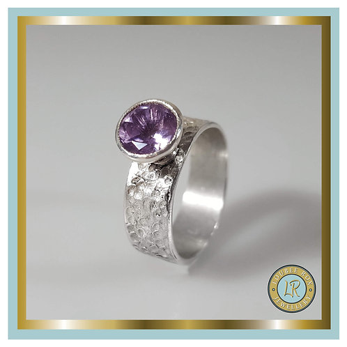8mm Faceted Amethyst Ring