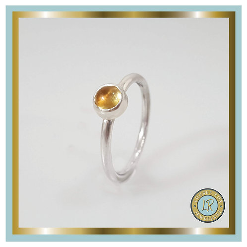 CITRINE 5mm Cabochon Stacking Ring