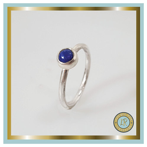 LAPIS LAZULI 5mm Cabochon Stacking Ring