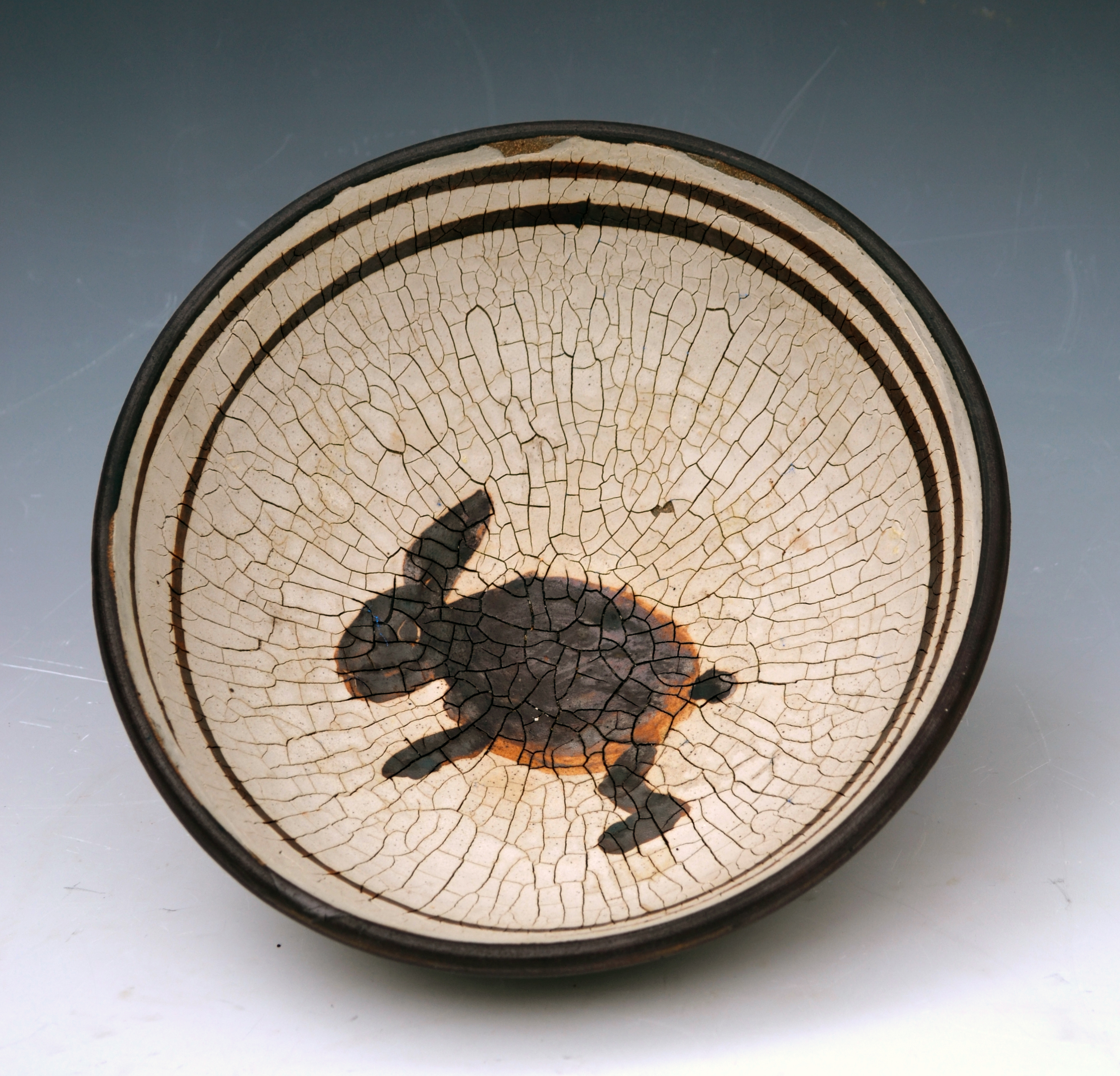 anasazi inspired bowl with rabbit