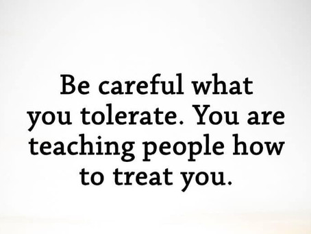 We teach people how to treat us
