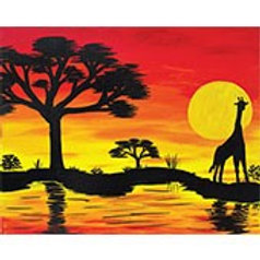 AFRICAN SUNSET I (PAINT KIT/PARTY)