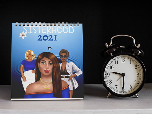 SISTERHOOD CALENDAR BLUE AND WHITE