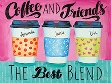 COFFEE AND FRIENDS (PAINT KIT/PARTY)