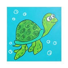 SWIMMING SEA TURTLE (PAINT KIT/PARTY)