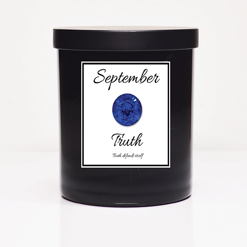 September Birth Month Candle