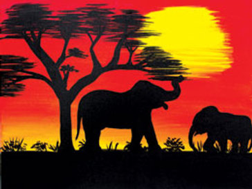 AFRICAN SUNSET II (PAINT KIT/PARTY)