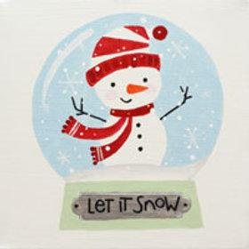 SNOWMAN SNOW GLOBE (PAINT KIT/PARTY)