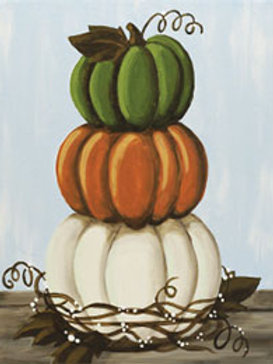 STACKED PUMPKINS (PAINTING KIT/PARTY)