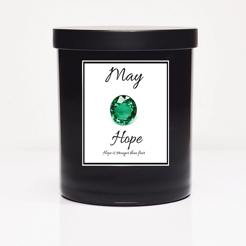 May Birth Month Candle