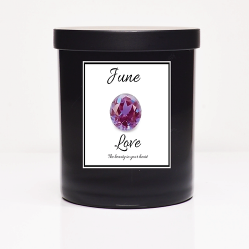 June Birth Month Candle