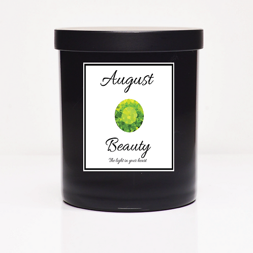 August Birth Month Candle