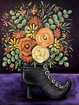 WITCH'S BOOT BOUQUET (PAINT PARTY KIT)