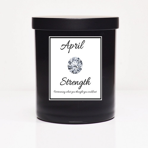 April Birth Month Candle