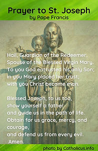Prayer to St. Joseph by Pope Francis