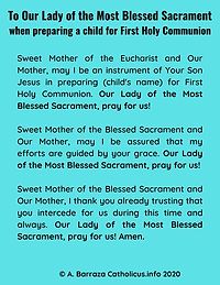 Our Lady of the Most Blessed Sacrament prayer