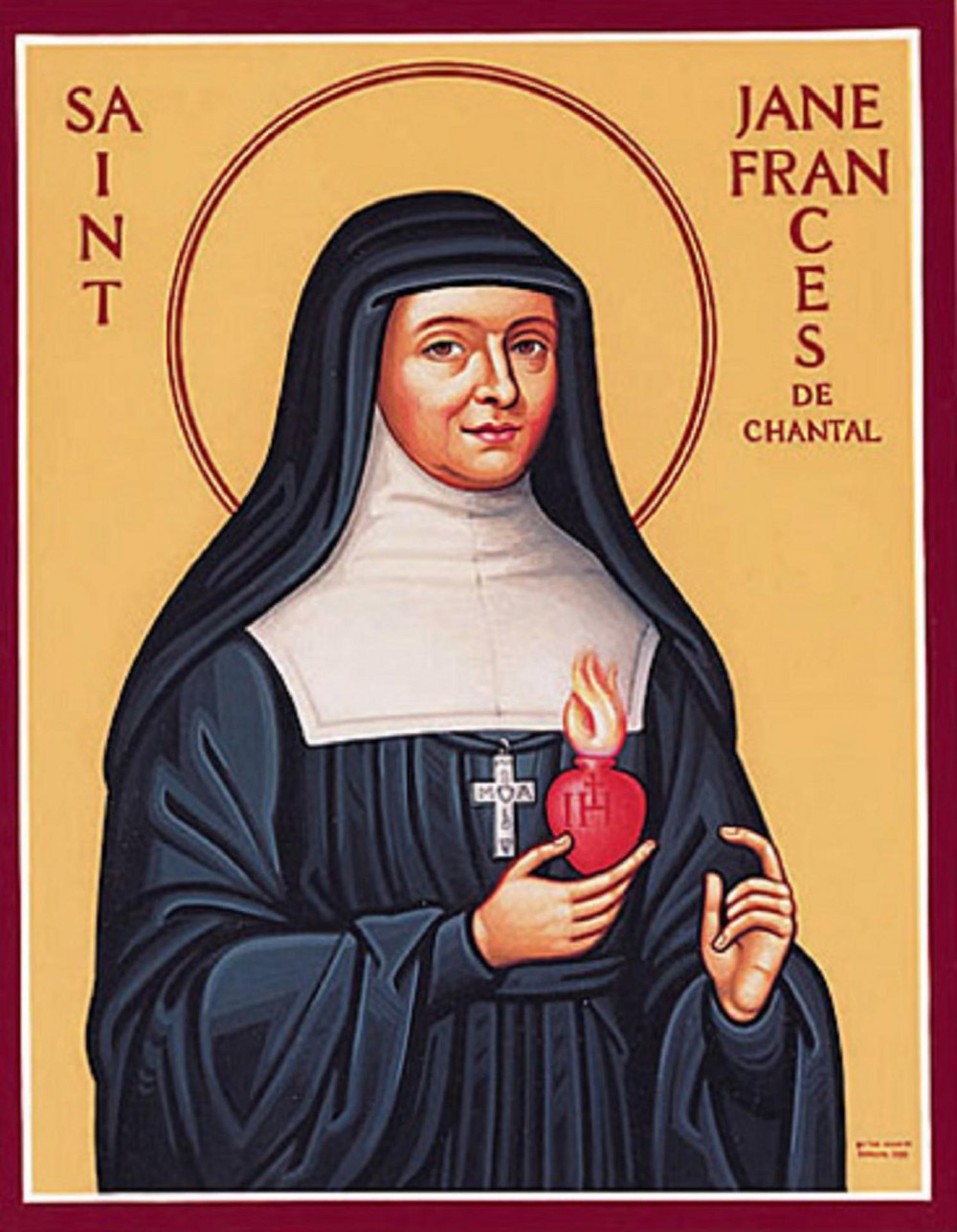an icon of Saint Jeanne de Chantal