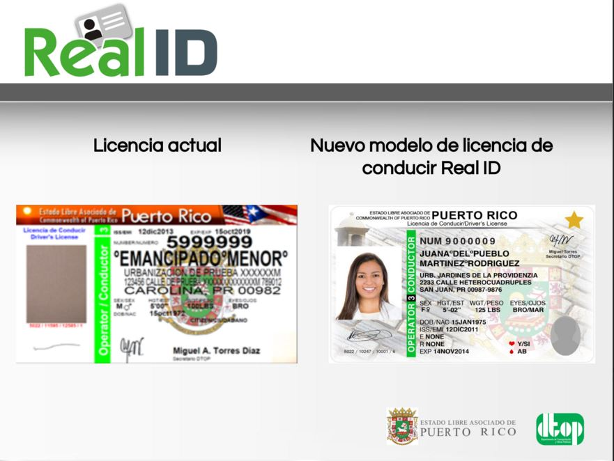 Resultado de imagen de imagenes de la licencia de conducir de Pto Rico