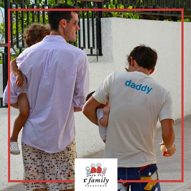 How cute! #gaydads #loveislove #baby #vacation #daddy