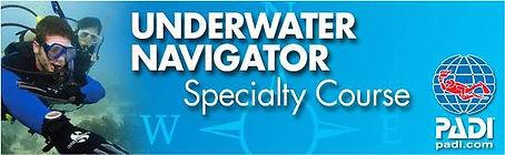 Especialidad PADI navegacion subacuatica