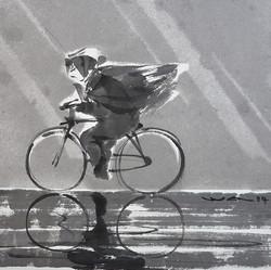 Fille à bicyclette