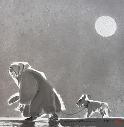 La vieille dame et son chien
