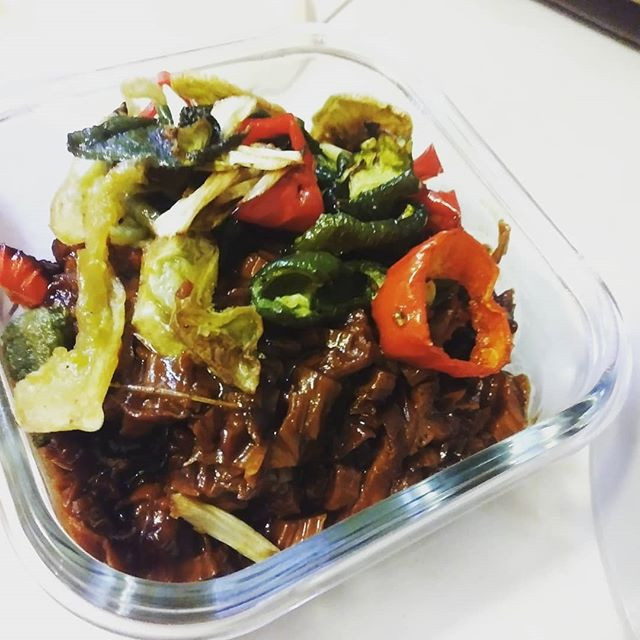 BBQ Yuba with yard peppers
