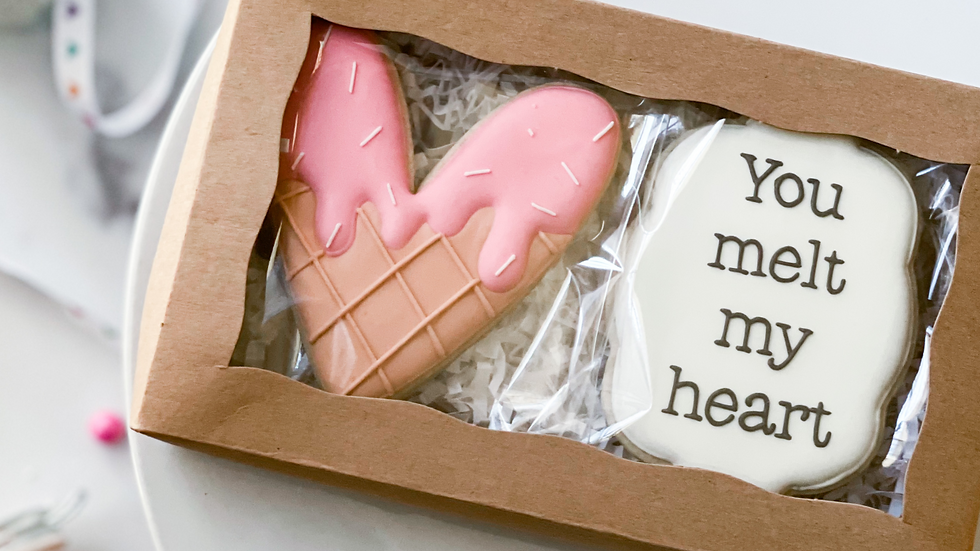 """You melt my heart"" Boxed Cookie Set"