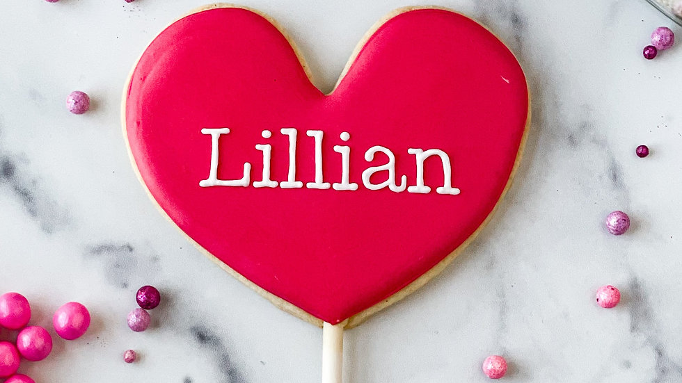 Personalized Heart Cookie Pop