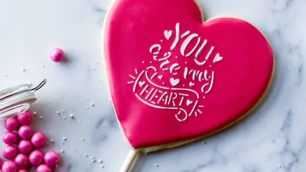 """You are my heart"" Cookie Pop"