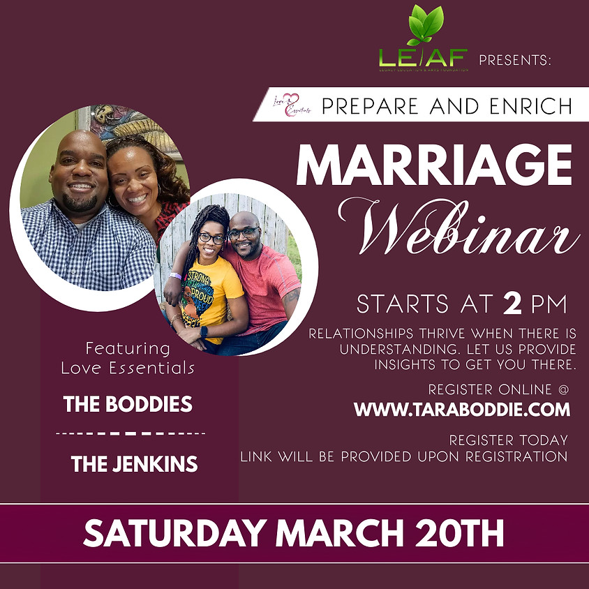 Love Essentials presents Prepare and Enrich Marriage Webinar