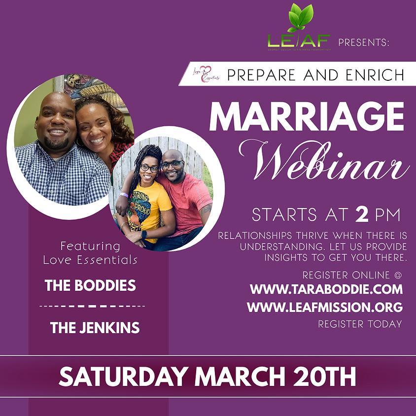 Prepare & Enrich Marriage Webinar