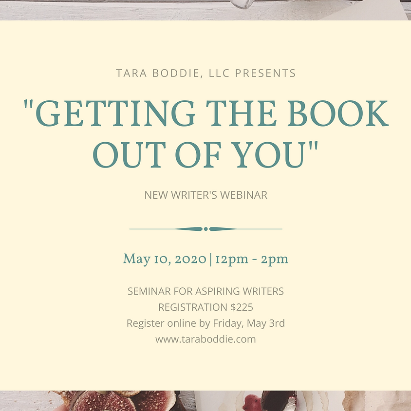 Getting the Book Out of You Writer's Workshop (Webinar)