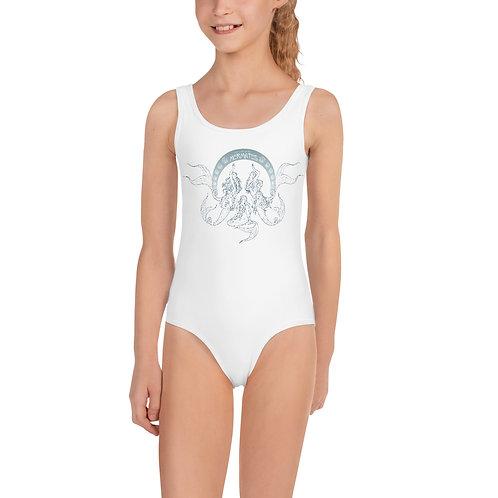 Mermates Convention 2021 - Art Nouveau WHITE Kids Swimsuit