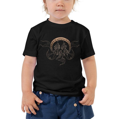 Mermates Convention 2021 - Art Nouveau BLACK Toddler Short Sleeve Tee