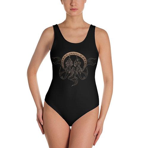 Mermates Convention 2021 - Art Nouveau One-Piece BLACK Swimsuit