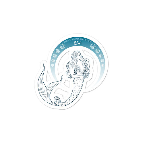 Mermates Convention 2021 - Arch Evi - Art Nouveau Bubble-free stickers