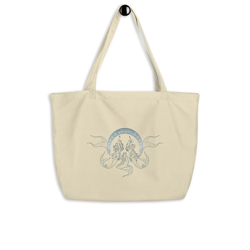 Mermates Convention 2021 - Art Nouveau BEIGE Large organic tote bag