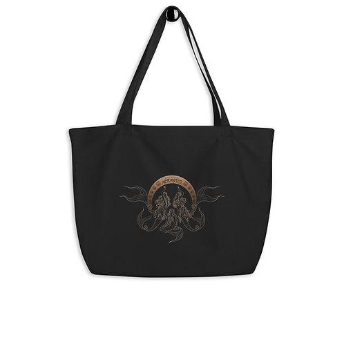 Mermates Convention 2021 - Art Nouveau BLACK Large organic tote bag
