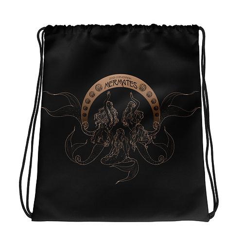 Mermates Convention 2021 - Art Nouveau BLACK Drawstring bag