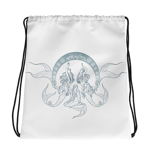 Mermates Convention 2021 - Art Nouveau WHITE Drawstring bag