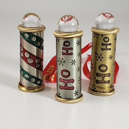 teleidoscope ornaments silver