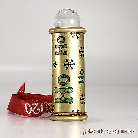 00030-2 - Etched Brass Christmas Teleidoscope Ornament